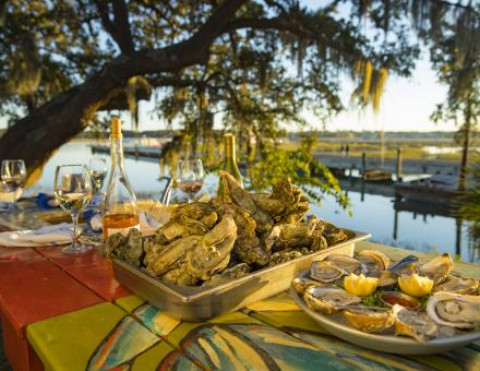 Oysters and lowcountry boil