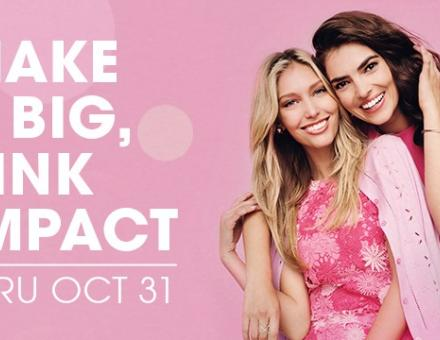 Make a Big, Pink Impact by purchasing a PINK Savings Card at Tanger Outlets!