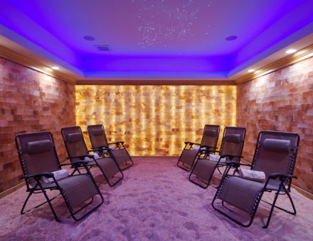 In a studio built from pure Himalayan salt, among the glowing bricks, your instructor will guide you through this healing meditation and sound healing!