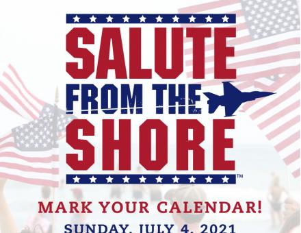 Salute From the Shore logo and event date (July 4, 2021)