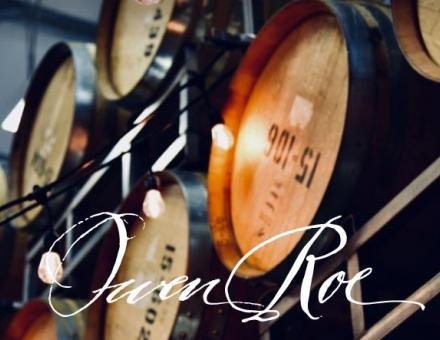 wine barrels with the owen roe logo