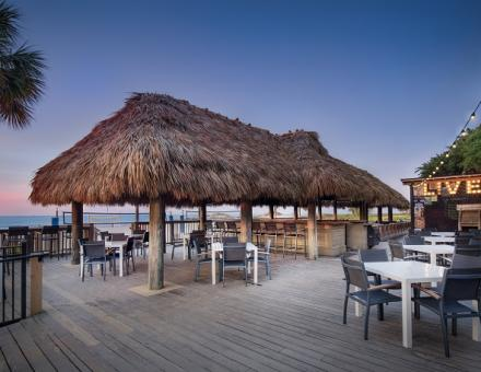 Live music at the World Famous Tiki Hut in Hilton Head Island, SC directly on Coligny beach.
