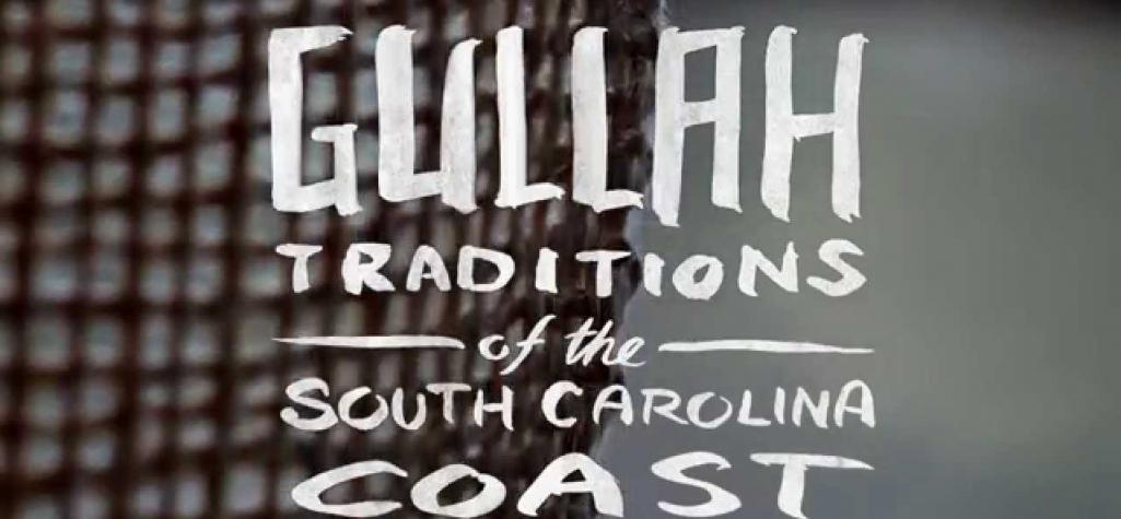 "Sign reading, ""Gullah Traditions of the South Carolina Coast."""