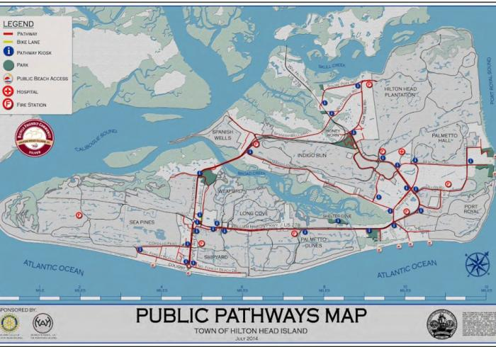 Public Pathways Map of the Town of Hilton Head Island
