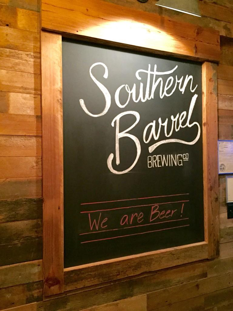 Southern Barrel brewing sign