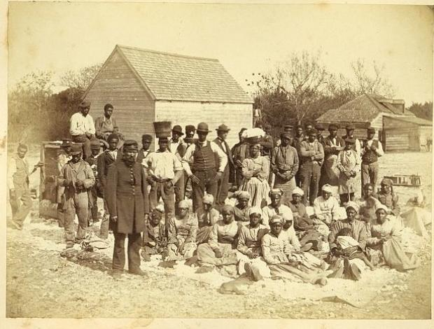Newly freed slaves at Mitchelville