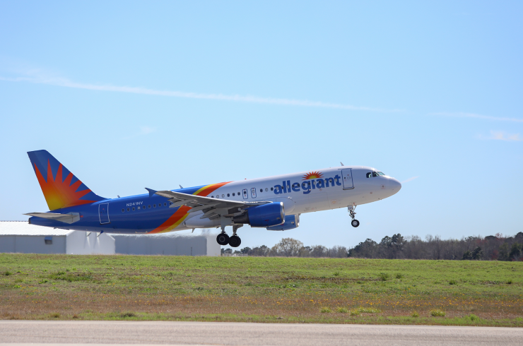Allegiant Airlines plane taking off