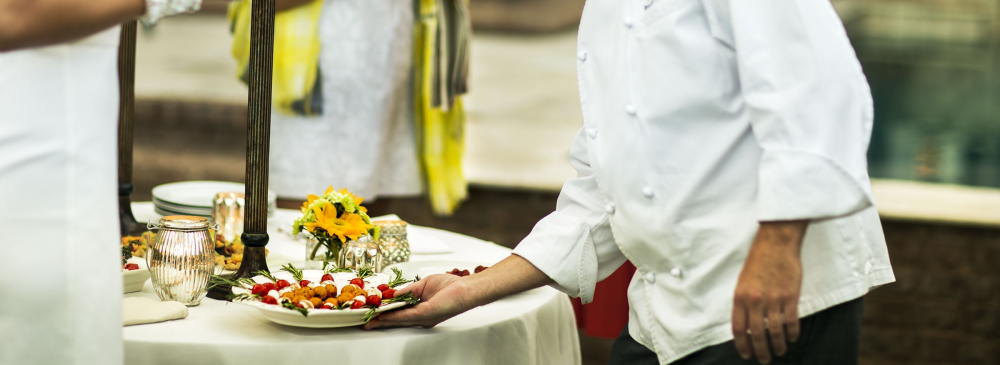 A chef catering a wedding