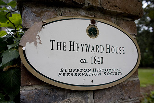 Sign for The Heyward House
