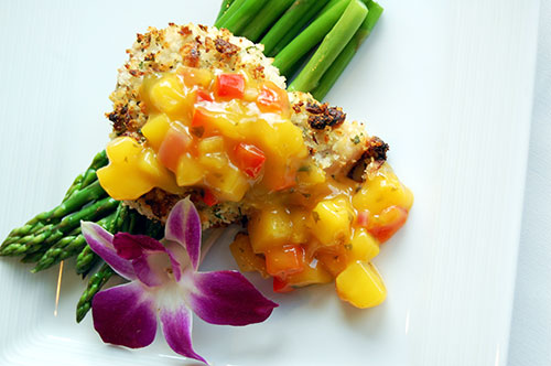 Macadamia Crusted Mahi Mahi with Mango Chutney