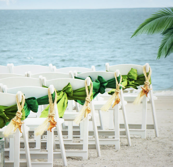 Wedding audience seating