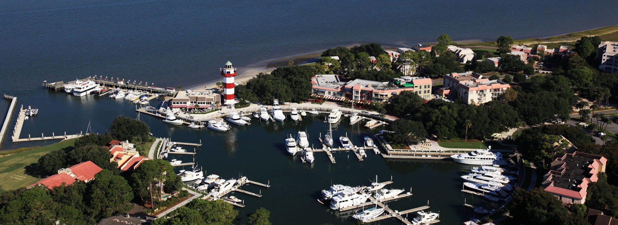 Aerial view of the Harbour Town Marina