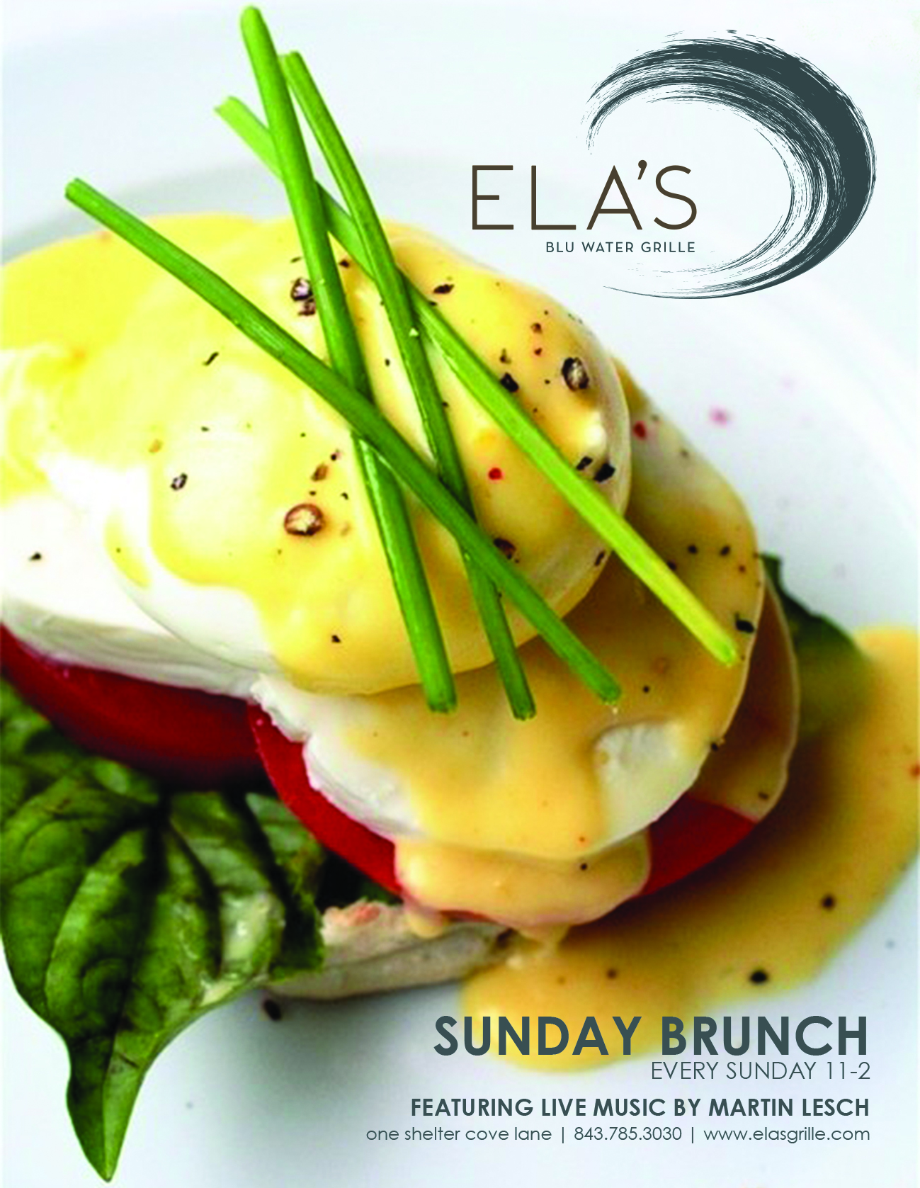 SUNDAY BRUNCH ON THE WATER W/ LIVE JAZZ @ ELA'S