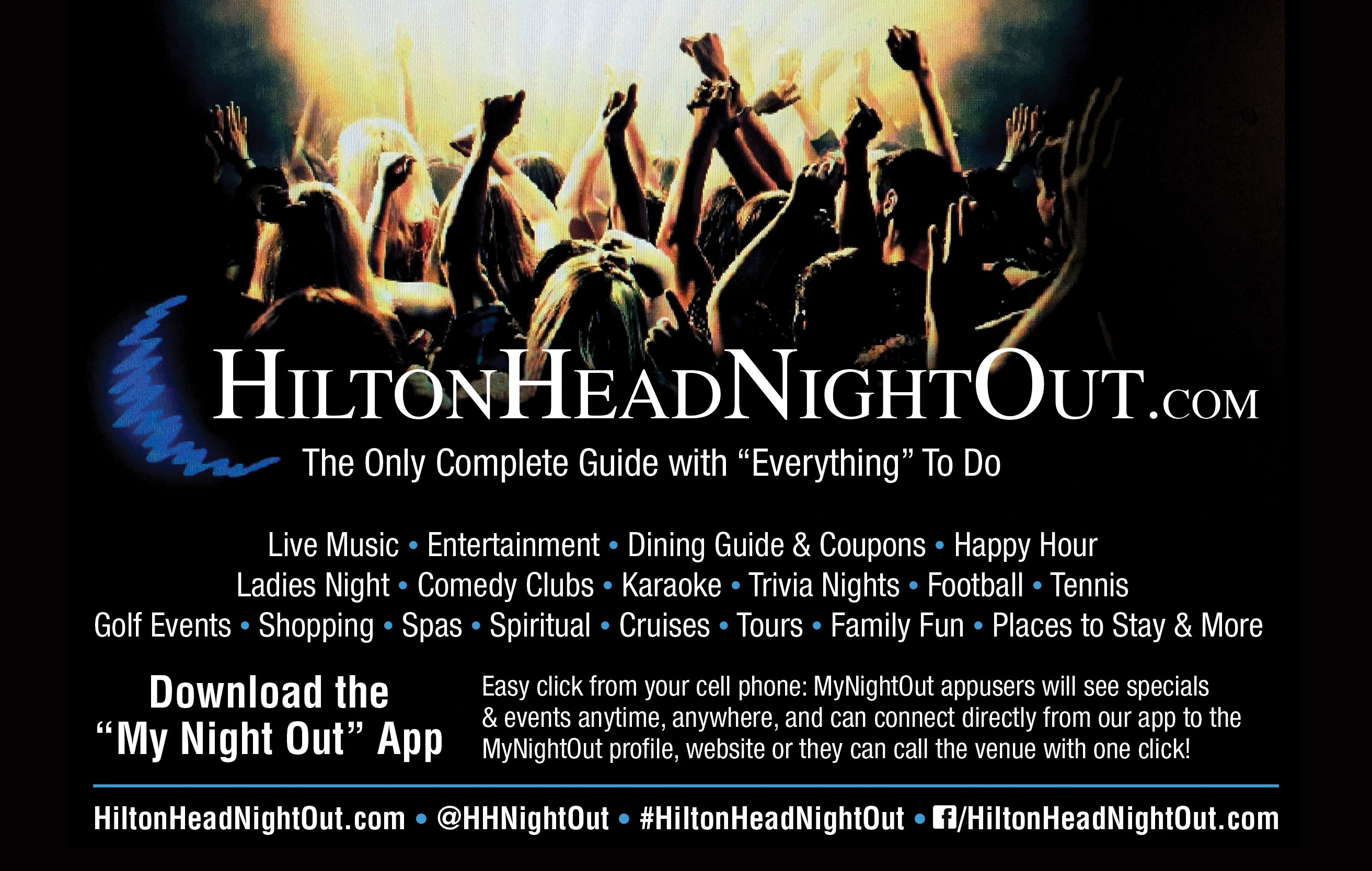 Hilton Head Night Out, Live Music, Entertainment, Dining & Bar Specials & More
