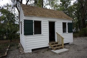 One of two slave quarters preserved on grounds of Heyward House