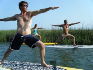 Yoga Paddle Boarding Warrior II