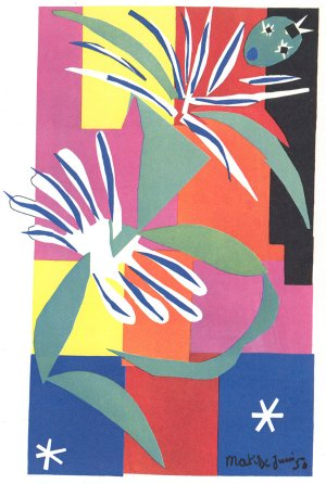 """A painting titled """"La Gerbe"""" by Matisse"""