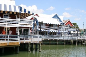 View of the South Beach Marina from the water