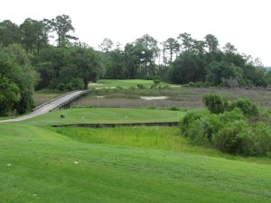 The ninth hole at Crescent Pointe