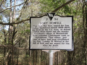 A sign indicating Fort Howell