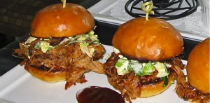 Bombora's pulled pork slider. Their barbeque has garnered many people's choice awards  and their Restaurant Week pre fixe menu sounds outstanding!