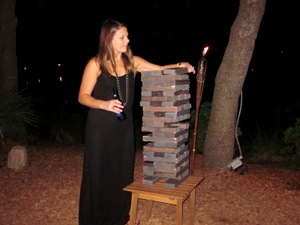 And if live music wasn't enough, Skull Creek Boathouse even has giant Jenga