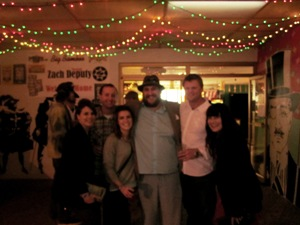 Celebrity Sighting!  We rang in New Year's 2012 with Zach Deputy (center) at the Coligny Theater