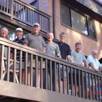 The Hoober group from Pennsylvania relaxes at their Sea Pines villa after that day's round.