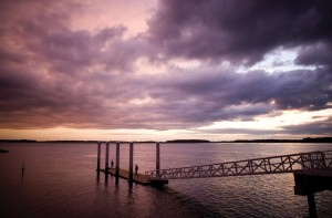 Catch a beautiful May River sunset during Oyster Fest on Oct. 13th and at Rockin' on the Dock on Oct. 19th.