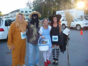 A costume contest is held at the finish line festivities