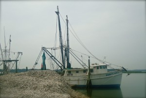 Shrimp boat moor dockside adjacent to the Bluffton Oyster Company - it's the perfect venue for an oyster roast or barbeque!
