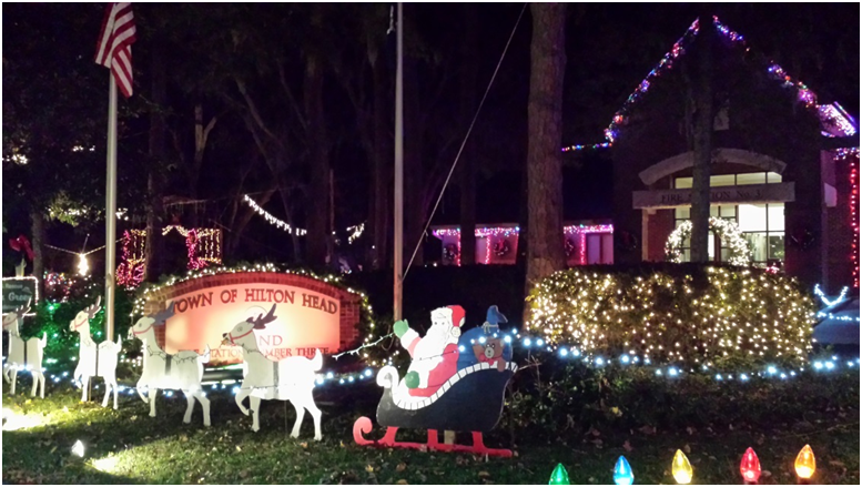 Find outstanding lights at the Fire Station located next to First Presbyterian Church and across from Port Royal Plantation