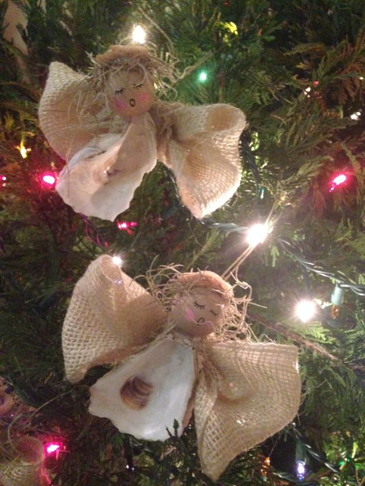 oyster shell ornaments