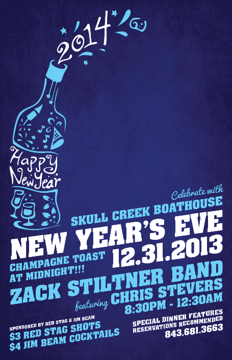 Skull Creek Boathouse New Years Eve!