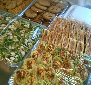 Casual get togethers (office party or golf outings?) are a snap with Street Meet's trays of fresh wraps, sammies and cookies for a sweet ending!