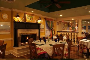 With a cozy fireplace, French country decor and sumptuous wine list, Charlie's e'toile Verte score high in romantic!