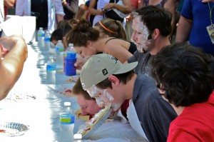 The pie eating contest is back and open to all ages! Bring your game face, an appetite for pie and maybe a clean shirt!