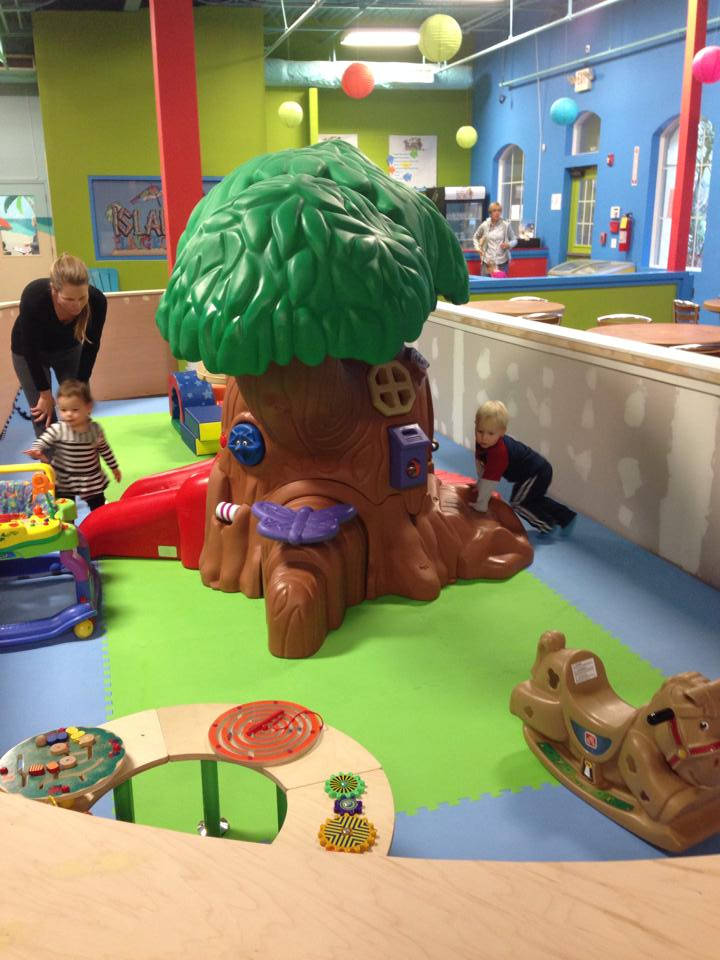 play area with tree