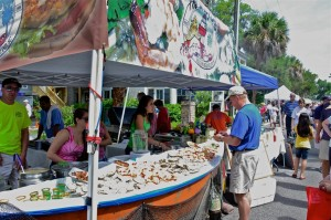 The Village Festival offers a variety of great eats including local seafood, of course!