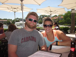 Enjoying lunch at The Quarterdeck after the safari