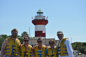 Pre-adventure shot in front of the Harbour Town Lighthouse